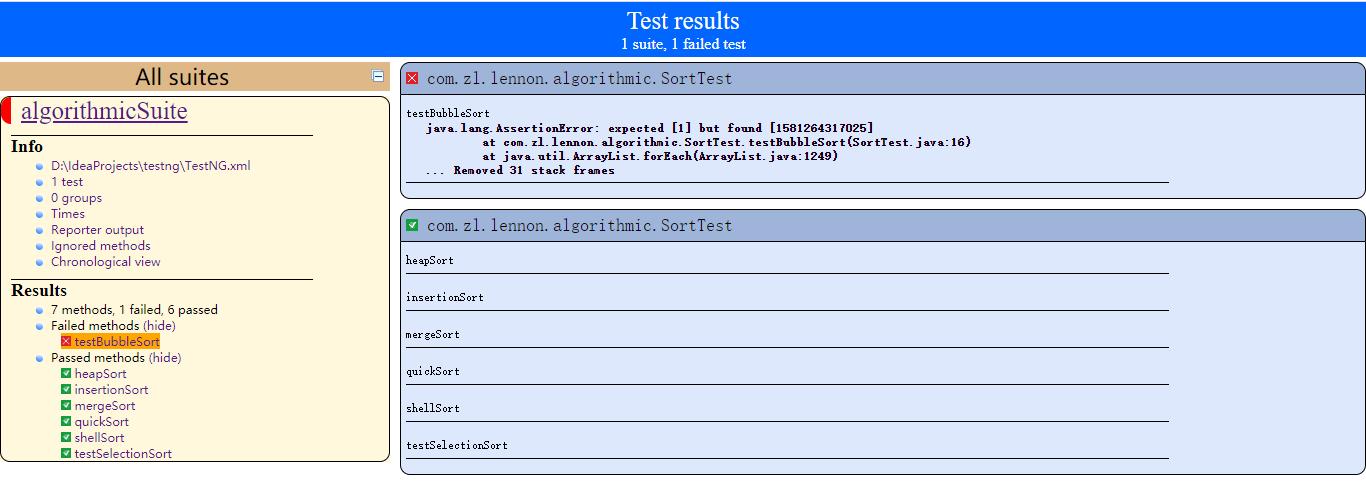 Testng 测试报告的几种优化方式